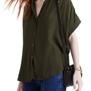 Madewell green central drapey shirt size 3x